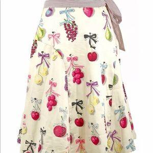 Elevenses Anthropologie Womens Skirt Fruit size 6